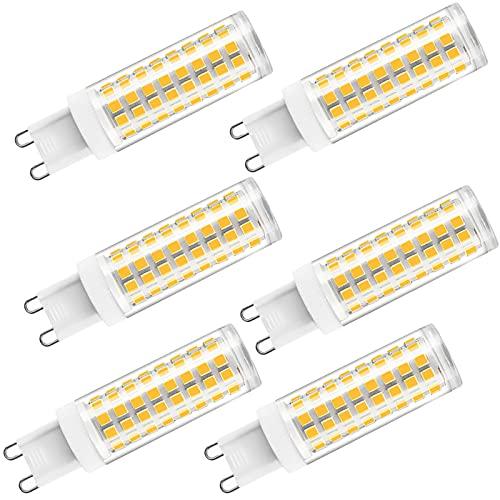 ZJYX Paquete de 6 Bombilla LED G9 12W Lámpara LED, Equivalente 120W Halógena, Blanco Frío 6000K, 1200LM Luz LED, AC 110-240V
