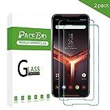 PaceBid 2 Stück Asus Rog Phone II ZS660KL Panzerglas Schutzfolie, Tempered Glass [9H Festigkeit] [Anti-Fingerabdruck] [Ultra-klar] Panzerglasfolie Bildschirmschutzfolie Für Asus Rog Phone II ZS660KL