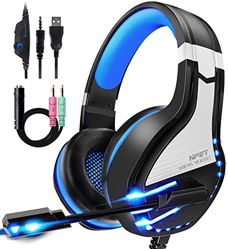 NPET HS 10 Stereo Gaming Headset for PS4, PC, Xbox One Controller, Noise Cancelling Over ear Headphones with Mic $13.99