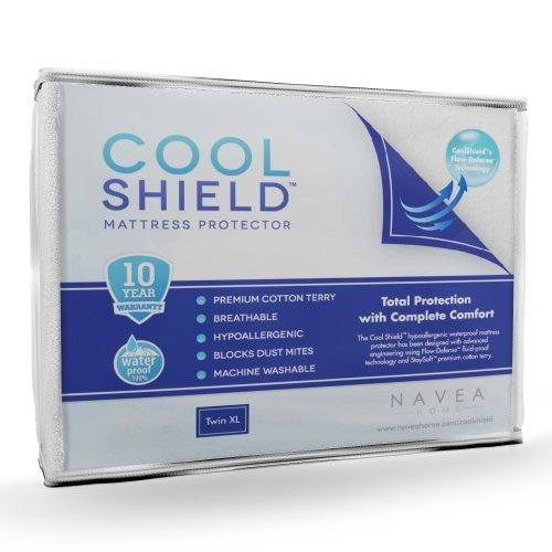 Cool Shield No Allergy Waterproof Mattress Protector - Breathable Terry Cover Protects Against...