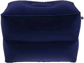 Prettyia Travel Car Inflatable Foot Leg Rest Footrest Pillow & Air Pump, Storage Bag - Blue, Small