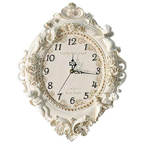 SMAQZ Europäische Kreativität Quarzuhr, Wohnzimmer Dekoration Wanduhr Keine tick stumm Schlafzimmer Uhr for Der Wanddekoration des Große Wanduhr