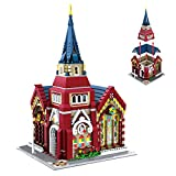 ColiCor Modelo de Construcción de Bloques 2346 Piezas Iglesia Edificios de Juguete Construcción Edificio de Ladrillos...