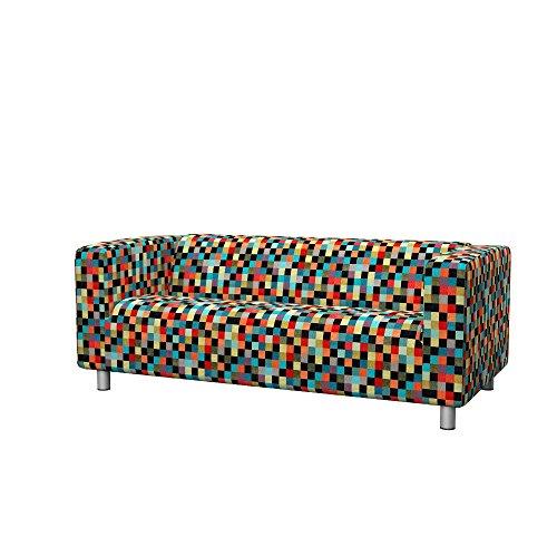 Soferia - IKEA KLIPPAN Funda para sofá de 2 plazas, Mozaik Red