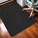 jHuanic Rectangular Chair Mat for Carpet Protection, Floor Carpet Protector, Thick Large Anti
