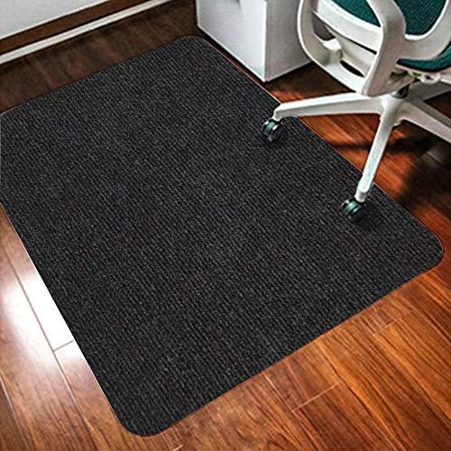 jHuanic - Alfombrilla rectangular para silla de protección de alfombras, protector de suelo grueso, antideslizante, para uso en casa o oficina, 90 x 120 cm