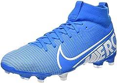 Nike JR Superfly 7 Academy FG/MG, Botas de fútbol Unisex niño, Multicolor (Blue Hero/White/Obsidian 414), 32 EU