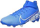 Nike JR Superfly 7 Academy FG/MG, Botas de fútbol Unisex niño, Multicolor (Blue Hero/White/Obsidian 414), 36.5 EU