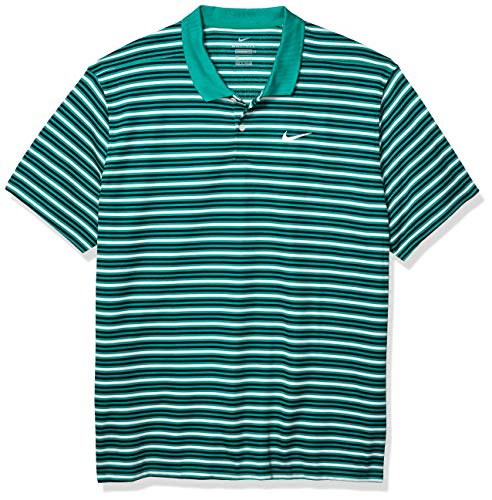 Nike Men's Nike Dri-fit Victory Stripe Polo, Neptune Green/Obsidian/White/White, XX-Large