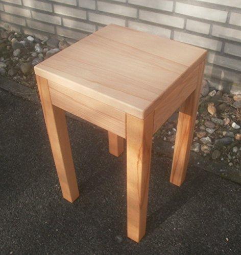 Massief houten meubel bijzettafel houten tafel kernbeuken massief Afmetingen: 30 x 30 x 40 cm hoog.