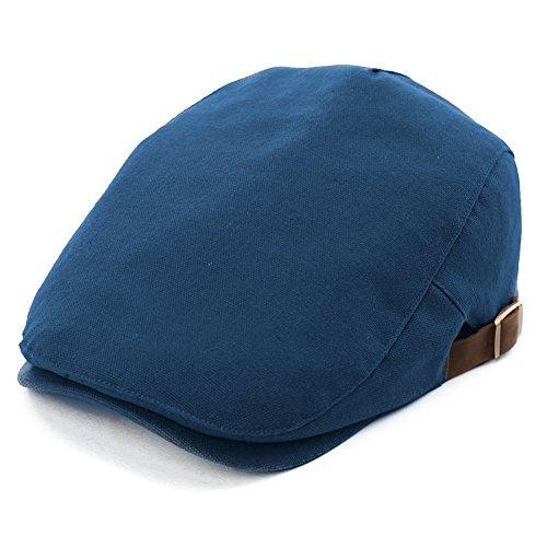 Comhats Comhats Herren Schirmmütze Flatcaps Schiebermütze 57-59CM Baumwolle Blau