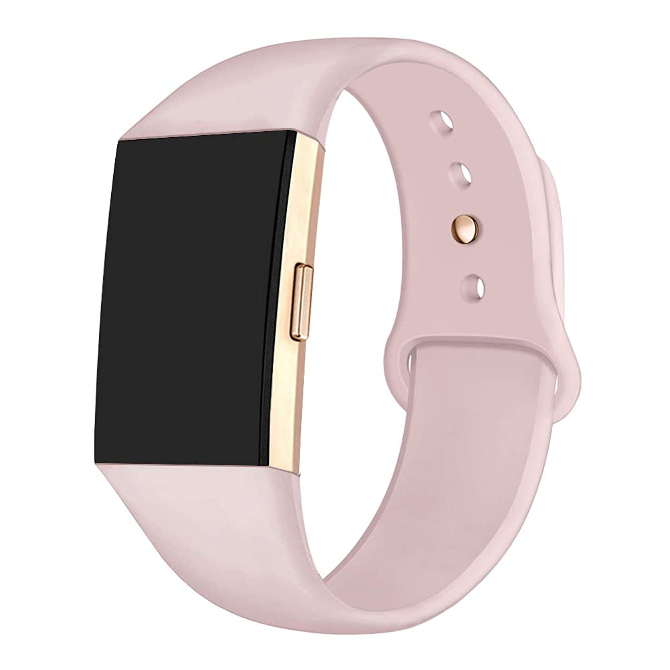 GHIJKL Sports Band Compatible Fit bit Charge 2, Soft Silicone Replacement Wristband for Fi tbit Charge 2,Women Men, Large Small