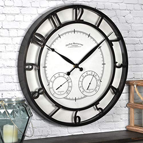 "FirsTime & Co. Park Outdoor Wall Clock, 18"", Oil Rubbed Bronze"