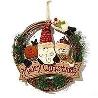N&Aクリスマスリース13インチサイズ純粋な自然の手作り木製
