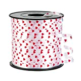PRINTED HEARTS RIBBON - Party Supplies - 1 Piece