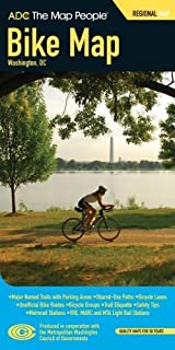 Adc Washington D.c. Bike Pocket Map (December 21, 2007) Paperback