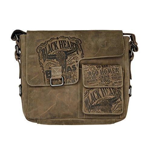 JACK\'S INN 54 Tasche: Snakebite - Schultertasche braun Vintage Leder exclusives Design