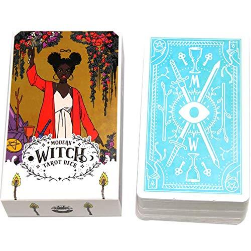 QLWLQL Cartas De Tarot The Modern Witch - Tarot Cards Deck 78 Cards - Family Party Board Games - Fun Game Cards - Versión En Inglés
