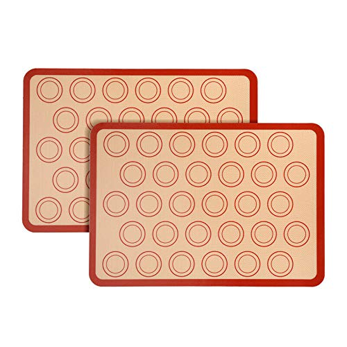 2x Silicone Baking Mats Non-stick Resistant Liner Oven Sheet Macaron Cake Cookie-Cookie sheet-Baking sheet-Baking set-Baking pans-Cookie sheets-Baking sheets-Cookie sheets for baking nonstick set