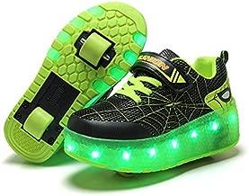 BFOEL Roller Skates for Girls LED Fashion Roller Shoes 2 Wheels Best Gift.
