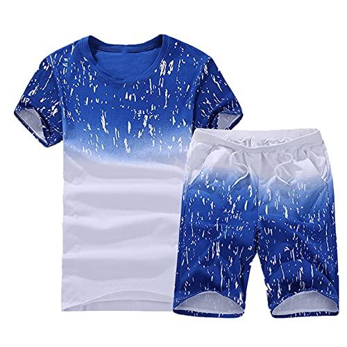 N\P Verano de los hombres de manga corta camiseta de deporte traje ropa de traje