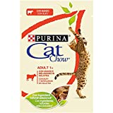 Purina Cat Chow Comida para Gato Adulto con Buey 24 x 85 g - 1 Pack