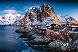 OAOQ Puzzle 1500 Piezas Jigsaw Puzzles Adultos Madera Rompecabezas Noruega Paisaje Invernal De Las Islas Lofoten Grande Educational Game Juguete Intelectual Cerebro Desafío Regalo 58X87Cm