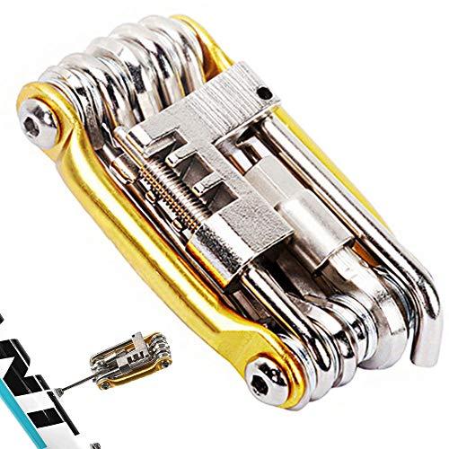 11 En 1 Herramientas De Bicicletas De Varios Conjuntos De Bicicletas Kit De Reparación Hexagonal Destornillador Llave De Radios De Acero Al Carbono Multifuncional Plegable Multitools11 En 1