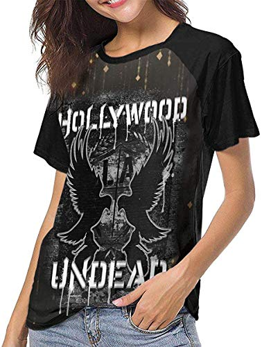 Hollywood Undead Woman Sommer Kurzarm Shirts Hemden Blusen Baseball T-Shirts Top