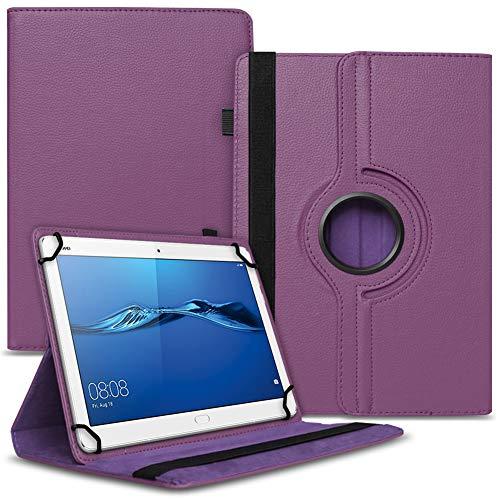 UC-Express Tablet Hülle kompatibel für Huawei MediaPad M2 10.0 Tasche Schutzhülle Hülle Cover 360° Drehbar, Farben:Lila
