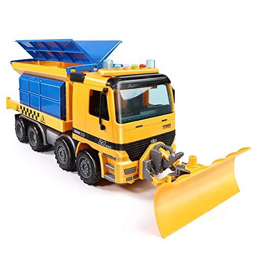 Yifuty 01.22 Schneeschaufel Modell Großes Spielzeug, Schneepflug Bulldozer Reinigung Schneepflug Technik Fahrzeug-Kind-Auto Junge 3-6 Jahre alt 44 * 15 * 16 cm (Color : Light and Music Version)
