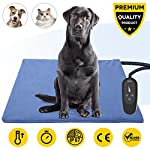 Pet Heating Pad,Dog Electric Heating Pad,29.5''x17.7'' Waterproof Heating Pad for Cats,Heated Mat Bed Safety Heating Indoor Adjustable Warming Mat for Pets with 6.9Ft Length Chew Resistant Steel Cord