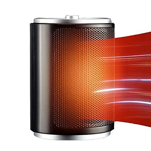 JiuXiuHeiShan-MY Calentador Eléctrico Pequeño Calentador Instantáneo Portátil Sin Ruido Protección contra Volcaduras, Calentador De Espacio con Termostato para Oficina Y Hogar