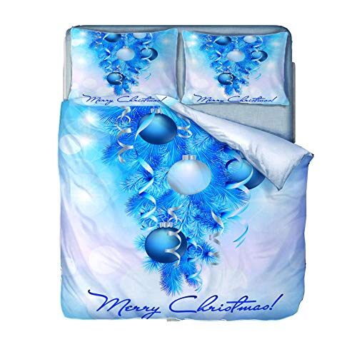 Generic Brands Duvet Cover Set 3 Piece Blue wind chimes-240x220cm(94x87 inch) Quilt Duvet Cover with Zipper Closure 3 Pieces Hypoallergenic Soft Microfiber Bedding Set with 2 Pillowcases