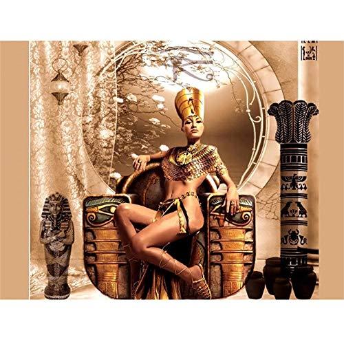 Puzzle 4000 Piezas,Puzzles para Adultos Puzzle Educa Rompecabezas Adultos,Mujer egipcia antigua Juegos Puzzles Se Aplica A Adultos/Infantiles/Regalo NiñO Puzzle Infantiles 3+ AñOs-55.70x34.44 pulgad