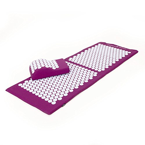 Kit d'acupression VITAL XL :Tapis d'acupression XL 130 x 50 cm + Coussin d'acupression 33 x 28 cm