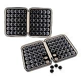 sharprepublic Caja Organizadora De 120 Cuadrículas Diamante De Piedras Preciosas con Estuche De Cuero PU Negro
