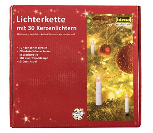 Idena 8582169 - Kerzenlichterkette, 30er, für innen, warm weiß