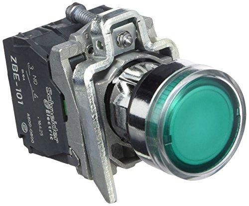 Preisvergleich Produktbild Schneider XB4BW3365 Leuchtdrucktaster,  grün,  flach,  1S+1Ö,  tastend,  BA 9s 250V 2, 4W