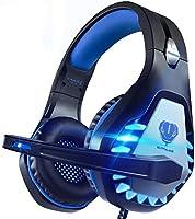 Auriculares Gaming para PS4/Xbox One/Nintendo Switch, Pacrate GH-1 Cascos Gaming con Sonido Envolvente y Cancelación de...