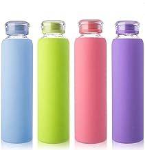 Amazon.es: Botella de vidrio con funda de silicona