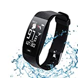 Smart Bracelet with Body Temperature Heart Rate Monitor,Activity Tracker with Blood Oxygen and Blood Pressure Monitor, Fitness Tracker with Sleep Tracking,IP67 Waterproof Smartwatch for Kids Women Men