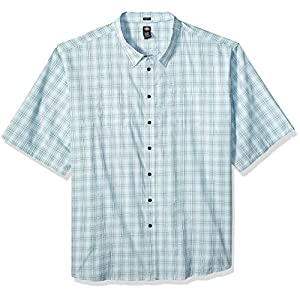 Men's  Plaid Short Sleeve Shirt Big-Tall
