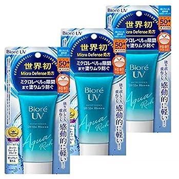 Biore UV Aqua Rich Watery Essence 50g SPF50+/PA++++  3 PCS
