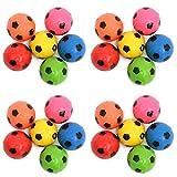24 unidades de pelotas de fútbol de pelotas de fútbol como regalo para cumpleaños infantiles, pelota de saltar, artículos pequeños como regalo, relleno de piñata (24 unidades)