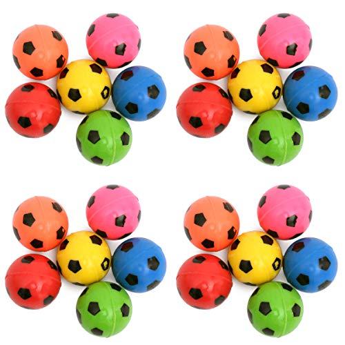 24 Stück Flummis - Fußball Flummi Set als Mitgebsel für Kindergeburtstag - Hüpfball Springball Give Aways - Kleinigkeiten als Mitbringsel - Pinata-Füllung (24 Stück)