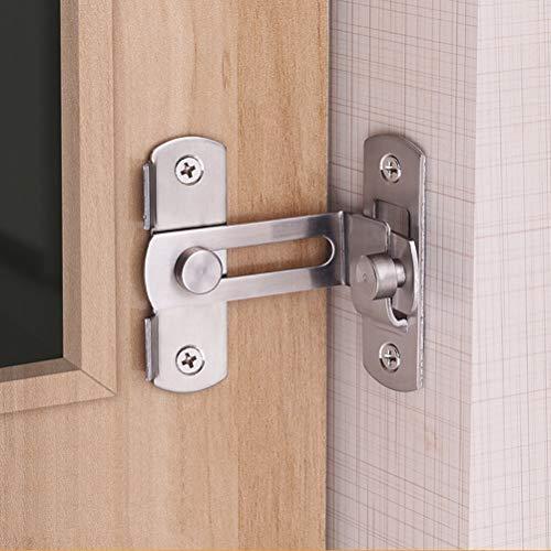 Pasador de cerrojo de puerta, 90 grados Ángulo recto Pasador de cerrojo Pasador de doblado Perno de hebilla Perno de bloqueo de corredera con tornillos para puertas y ventanas