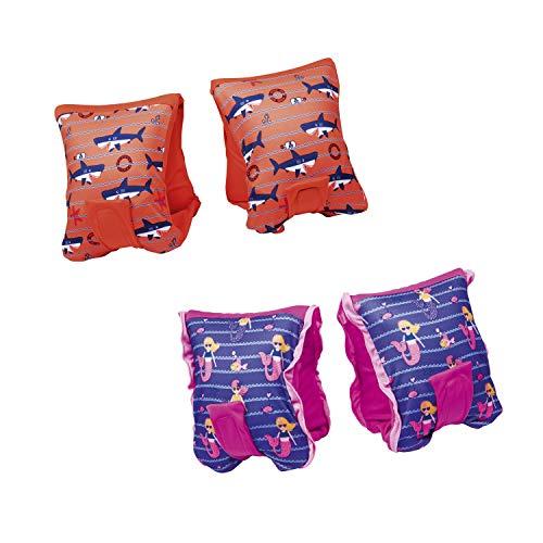 Bestway Swim Safe Schwimmflügel, Schwimmhilfe mit Textilbezug, für Kinder 3-6 Jahre (M/L), sortiert