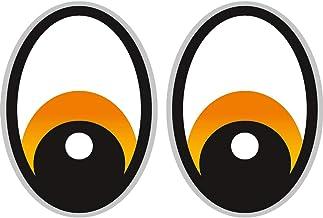 Ögon orange robot dammsugare klistermärke, dammsugare robot, klistermärke, öga, klistermärken, gräsklippning robot grå grä...