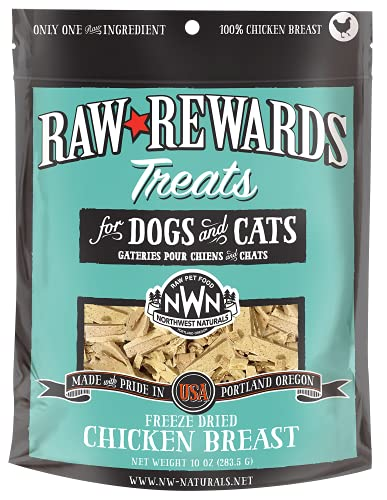 Northwest Naturals Raw Rewards Freeze-Dried Treats for Dogs and Cats – Chicken...
